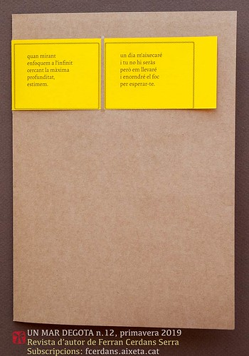 Coberta de la revista d'autor Un Mar Degota n. 12, de Ferran Cerdans Serra