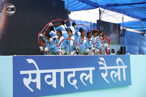 A performance by Sewa Dal volunteers