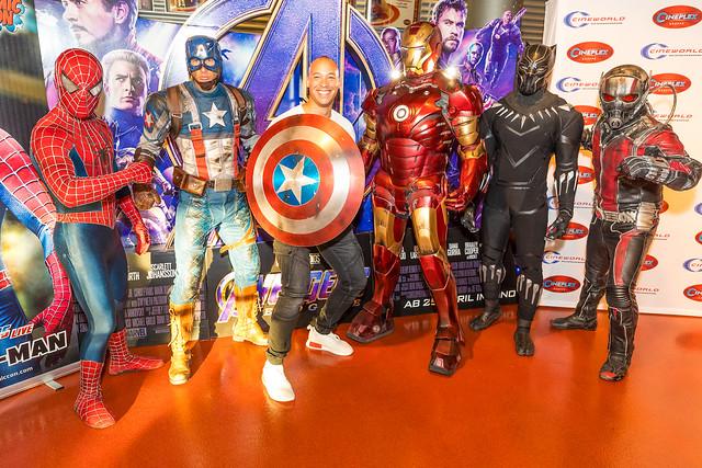 """Superhelden zu Besuch zu """"Avengers: Endgame"""""""