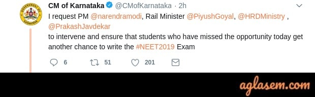 Students Missed NEET 2019 Held At Benguluru