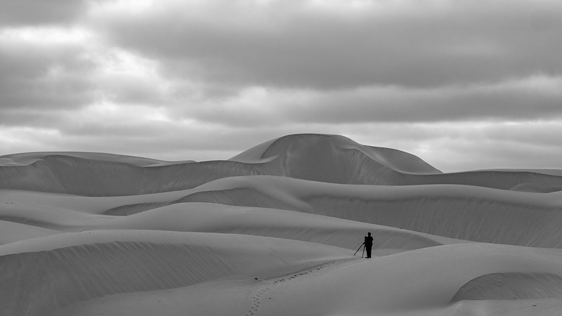 Photographer at the dunes