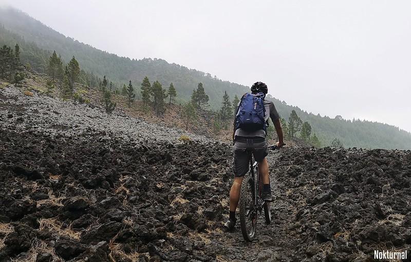 Through the lava fields