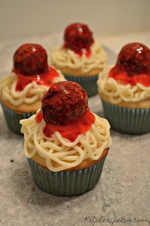 Spaghetti Cupcakes 1 | by katesrecipebox
