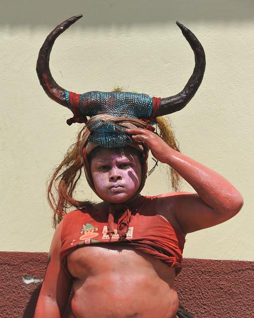 Boy with Mask Oaxaca Mexico
