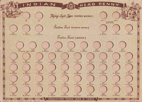 Gramercy Stamp Company Indian 1c board - face