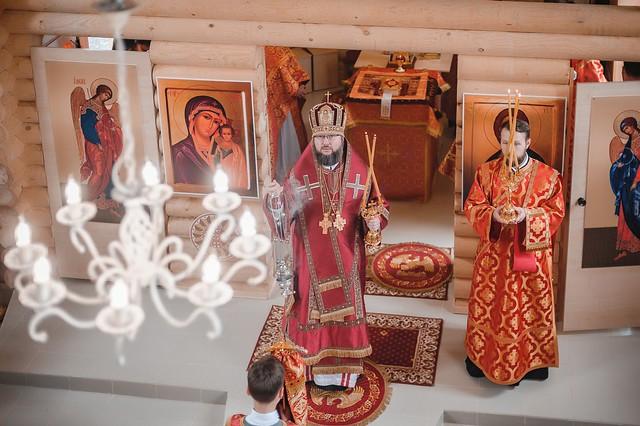 3 мая 2019 г. Освящение храма святого равноапостольного князя Владимира в пос. Щеглово Всеволожского благочиния