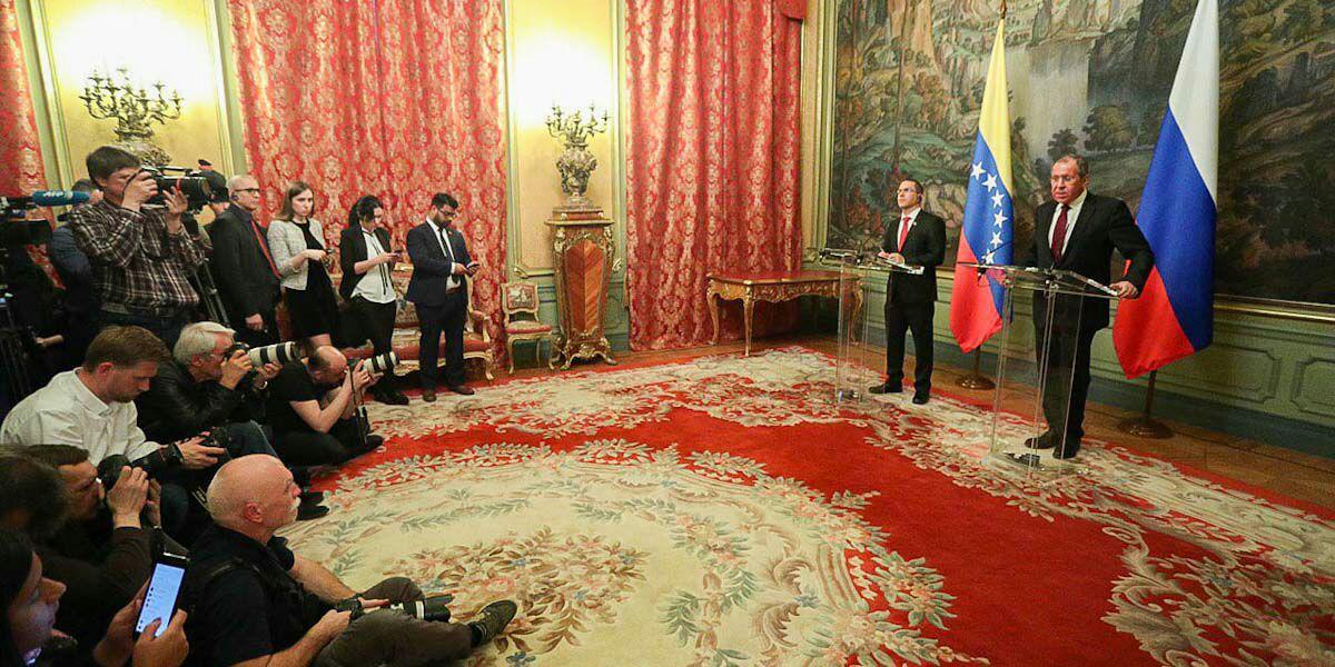 Cancilleres de Venezuela y Rusia ofrecen rueda de prensa