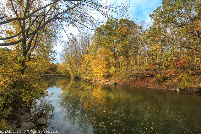 Lower Huron River in Autumn