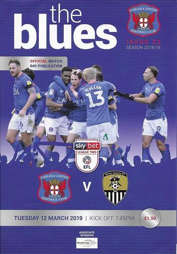 Carlisle United V Notts County 12-3-19 | by cumbriangroundhopper