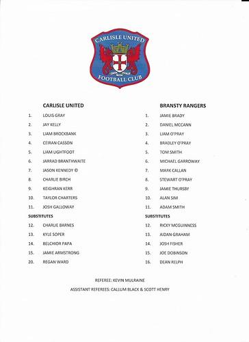 Carlisle United V Bransty Rangers | by cumbriangroundhopper