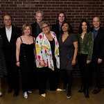 Fri, 03/05/2019 - 4:47pm - Caroline Shadood, Paul Cavalconte, Janet Bardini, Corny O'Connell, Rita Houston, Russ Borris, Alisa Ali, Kara Manning, Eric Holland and Don McGee. The WFUV High Line Bash, May 3, 2019 at Milk Studios in New York City. Photo by Neil Swanson