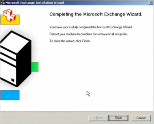 Exchange 2003 uninstalled