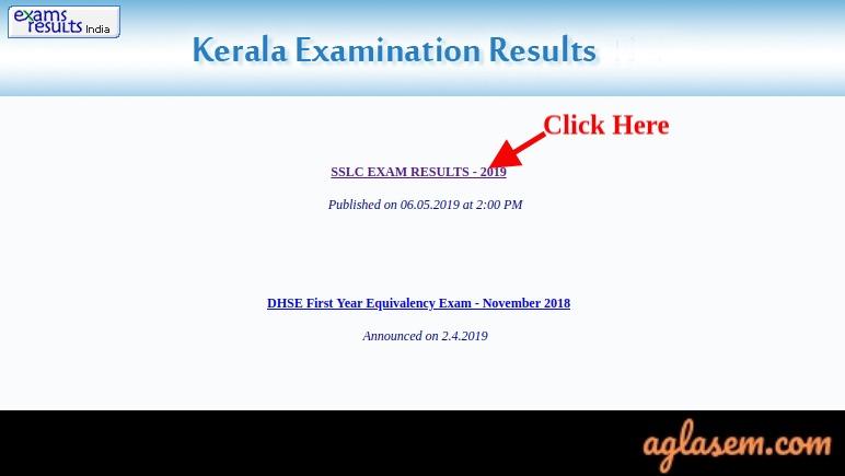 Kerala SSLC Result 2019 School Wise