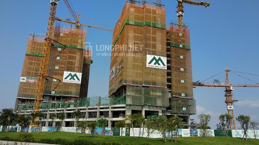 Tiến độ thi công căn hộ Eco-Green Sài Gòn cuối tháng 4/2019.