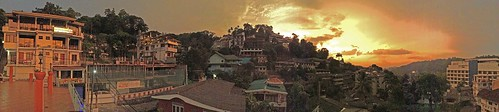 kandy srilanka sri lanka buddha temple tooth relic panorama view lake sunset manohar luigi fedele