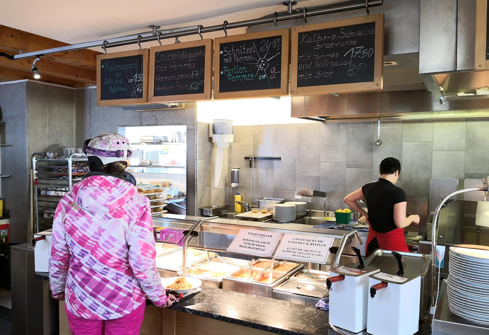 Gipfelrestaurant self-service counter