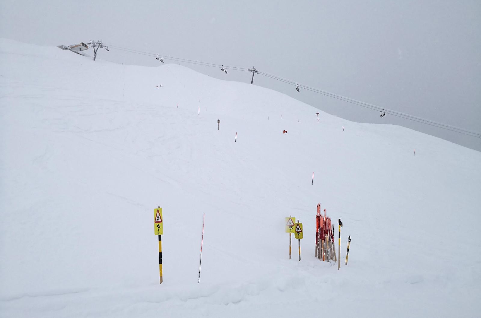 Upper portion of Gätterli piste