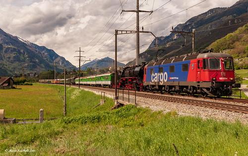 Treno speciale sul Gottardo