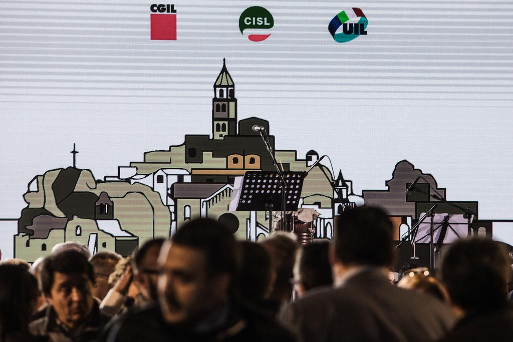 Iniziativa Cgil, Cisl e Uil a Matera 'La nostra Europa. La cultura, il lavoro. La cultura del lavoro'