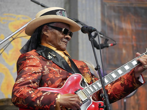 Little Freddie King  on Day 8 of Jazz Fest - 5.5.19. Photo by Louis Crispino.