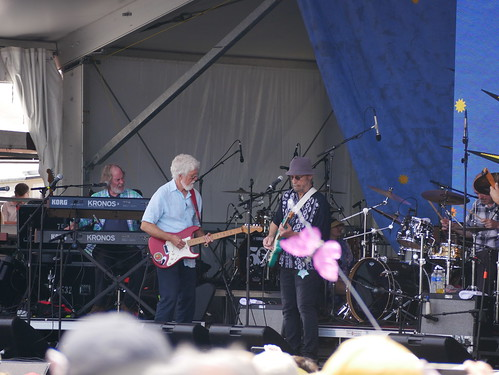Little Feat  on Day 8 of Jazz Fest - 5.5.19. Photo by Louis Crispino.