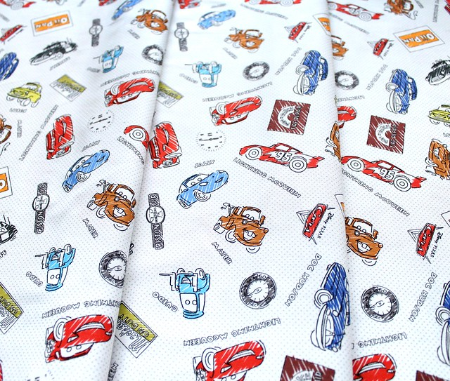 Camelot Fabrics Pixar Coloring Collection 85070203 Sketchy Cars in Multi