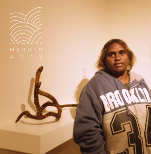 Featured Artist Dallas Smythe from Maruku Arts. Image courtesy of Maruku Arts