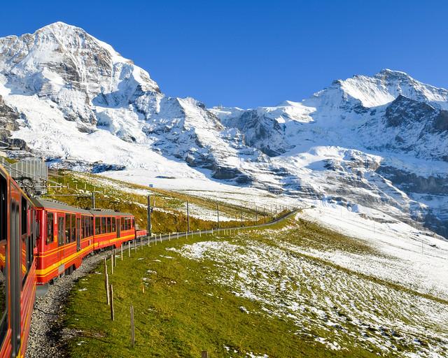 Tren al Jungfraujoch en Suiza