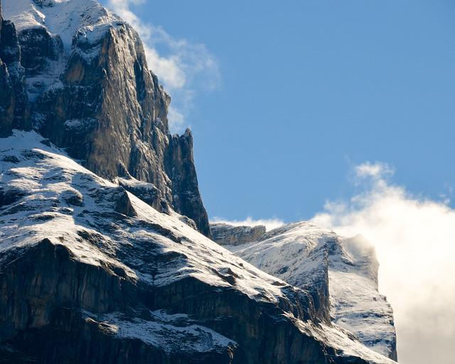 Alpes suizos desde el tren de Grindelwald
