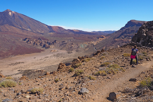 On top of the crater wall, Teide National Park, Tenerife