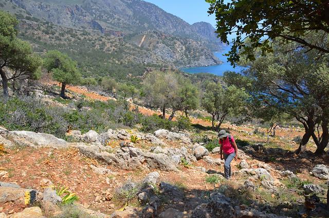 Hot walking, Crete, Greece