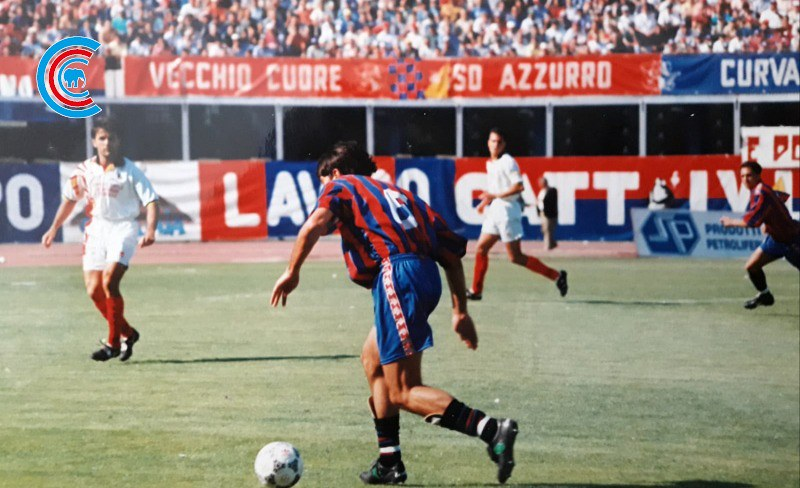 Roberto Ricca in azione contro la Turris nei play-off 1996/1997