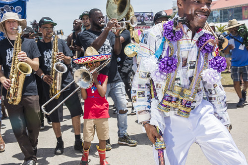 Ole & Nu Style Fellas SA & PC at Jazz Fest 2019 day 8 on May 5, 2019. Photo by Ryan Hodgson-Rigsbee RHRphoto.com