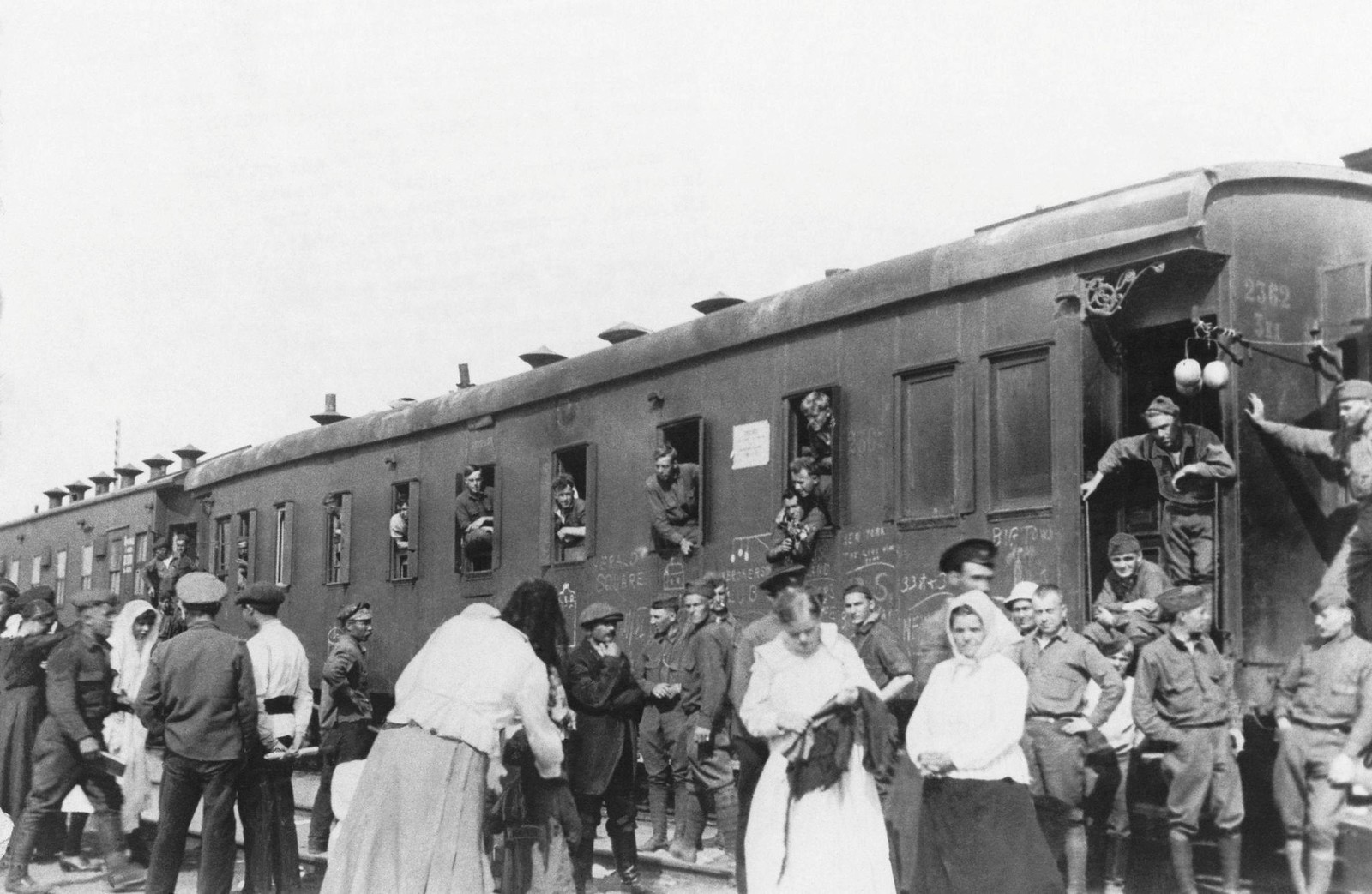 Последние американцы покидают север России. Станция Сорока, 1 сентября