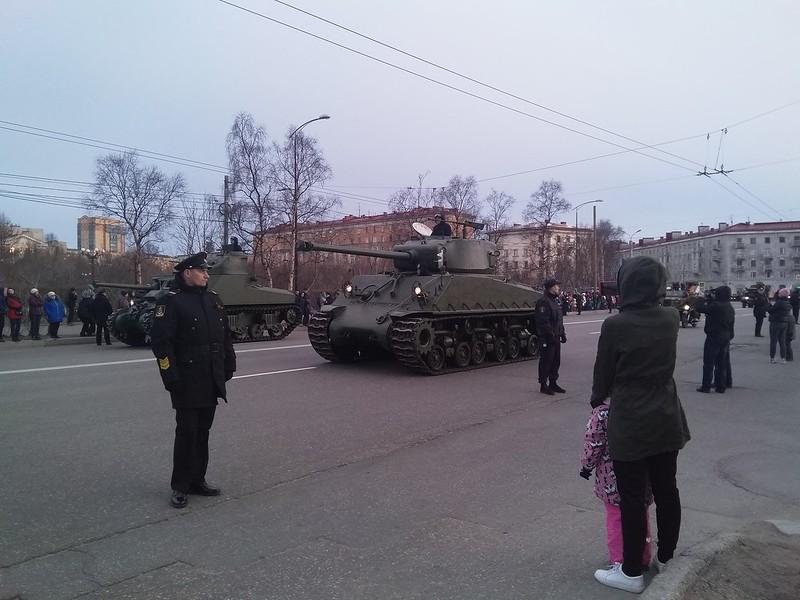 Тренировка парада в Мурманске