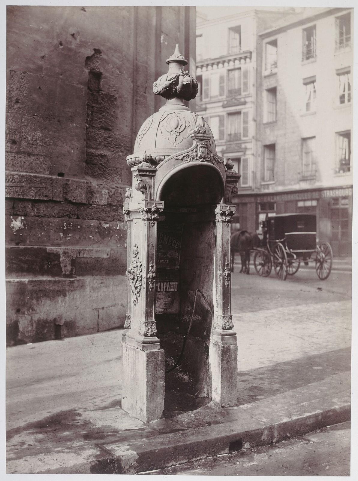 1870. Писсуар, улица дю Фобур Сен-Мартен. Париж (X округ)