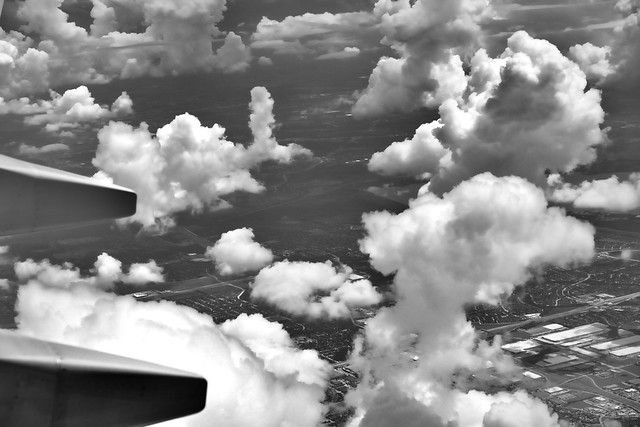 Pillars of Clouds (Black & White)