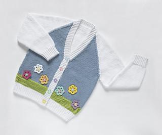 Flower garden Cotton Cardigan