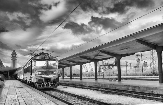Infrared  B&W train station