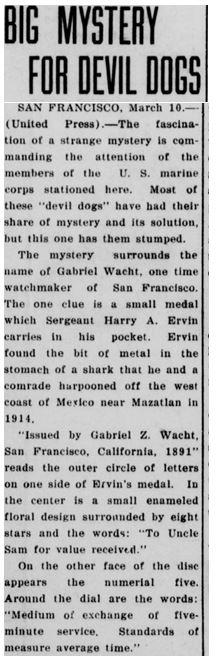 1923 Wacht token article part 1