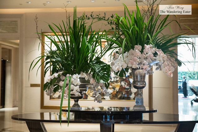 Lovely orchids at the lobby