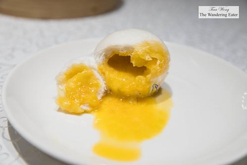 Steamed salted yolk custard buns (off menu) | by thewanderingeater