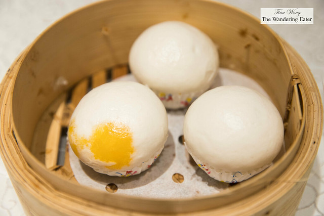 Steamed salted yolk custard buns (off menu)