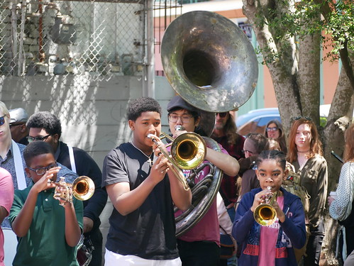 Heritage School of Music at French Quarter Fest - 4.14.19. Photo by Louis Crispino.