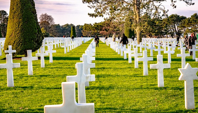 The Normandy American Cemetery and Memorial  is a World War II cemetery and memorial in Colleville-sur-Mer, Normandy, France-46