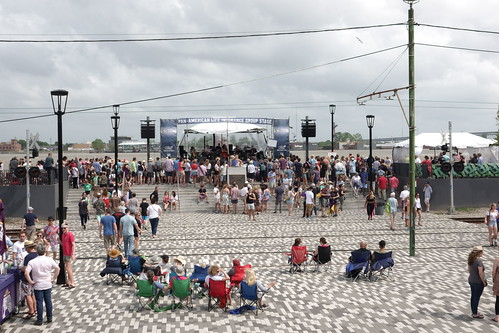 New riverfront stage at French Quarter Fest - 4.13.19. Photo by Keith Hill.