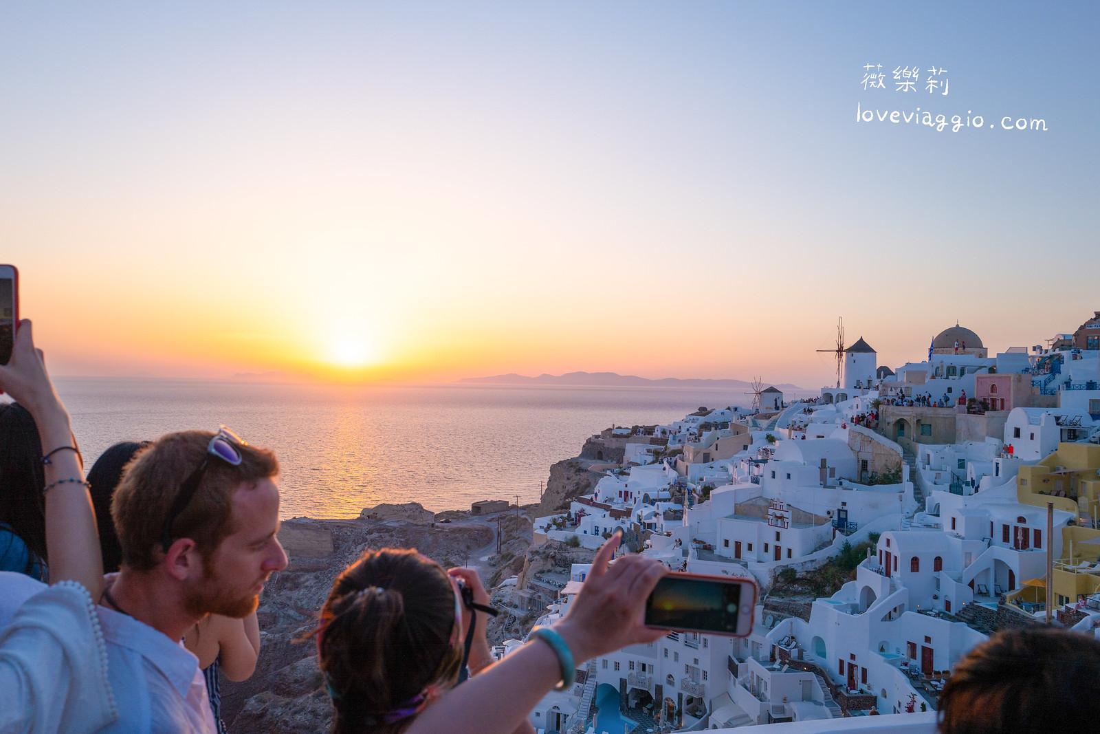 【希臘聖托里尼 Santorini】伊亞Oia夕陽 一生必看一次世界最美的夕陽 @薇樂莉 Love Viaggio | 旅行.生活.攝影