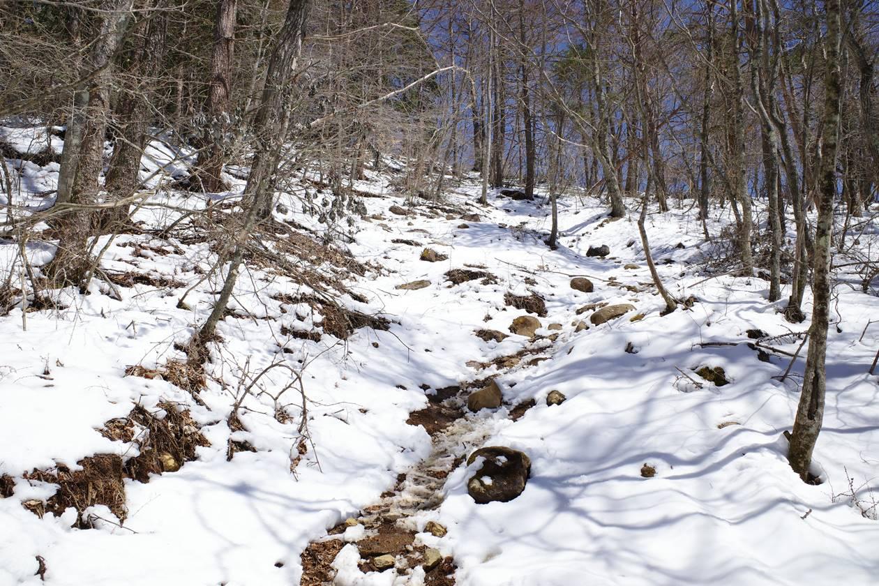 新倉山~霜山~三ッ峠山 日帰り残雪縦走登山