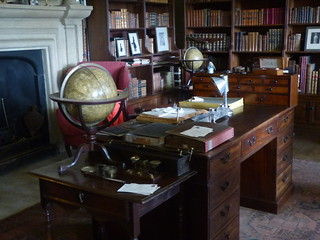 Canons Ashby House - Book Room - desk