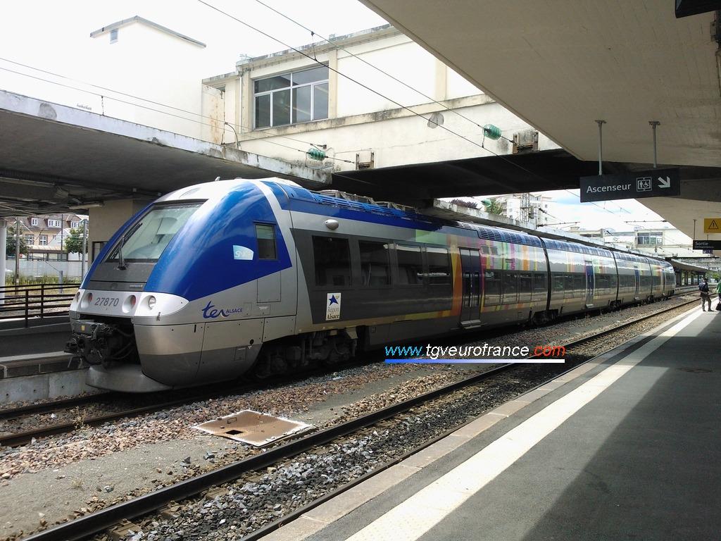 L'automotrice Z27869-Z27870 SNCF de la Région Alsace
